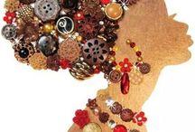 Figura Africana com botões
