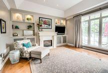 Gray scale living room / foxglovedesign.ca