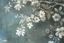 estampa floral +pássaros