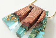 resin and wood