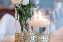 Gold glitter / Inspiration for Christmas party