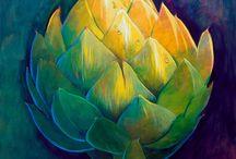 final art - floral pieces