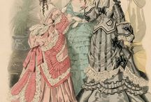 Antique fashion illustration