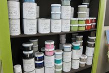 Furniture Paint / - Chalk Paint® by Annie Sloan (available from Lady Butterbug® at the High Street Antiques location in Plano ONLY)  - Amy Howard At Home One Step Paint™ (available from Belle Couleur at High Street Market location in Dallas ONLY)