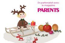 NOV 2014 - Box BABY 0-36 mois avec PARENTS MAGAZINE / Ce mois-ci, on prépare l'arrivée du grand monsieur à la barbe blanche et au beau manteau rouge, parce qu'il n'est jamais trop tôt pour faire découvrir la magie de Noël aux enfants !