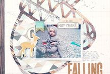 Scrapbook Werkstatt October Kit layouts
