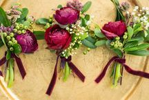 March wedding Marsala and gold