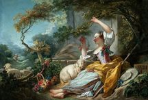 Jean-Honoré Fragonard / Jean-Honoré Fragonard was a french painter and printmaker whose late Rococo manner was distinguished by remarkable facility, exuberance, and hedonism.
