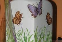 Decoupage  jars