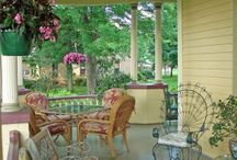 porches -- outside furniture settings etc.   / by Sharon Stokes