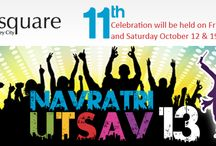 2015 IndiaSquare Navratri Utsav / Navratri festival sacred to the Mother Goddess is celebrated in the months of October and November. It is a festival of worship, dance and music celebrated over a period of nine nights.