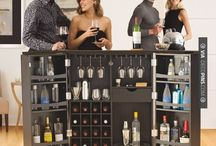 Home Bars / Home bars are a great and super-hospitable addition to any area of your home, whether it's a home bar in the kitchen, or a nice, stone and wooden classic home bar down in the man cave basement, home bars are where it's at! ;) Enjoy the home bars board below.