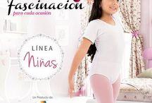 Linea para niñas / Pantys, mallas, taloneras, cubanas, deportivas, pantalonetas, bodys.