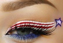 Fourth of July makeup etc.