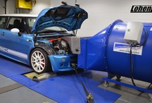 Lohen Rolling Road / Dyno / Our Eccleshall-based 4 wheel drive dyno is available for retail and trade hire. We offer power runs, diagnosis, steady state mapping. Suitable for all cars, our belt-linked 4WD rolling road suits not only MINIs, but all models of car.