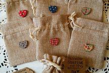 Hessian Wedding  Bags