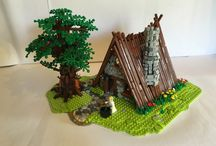 Lego cottages and castles