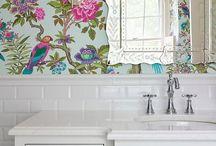 Стены ванной комнаты