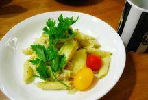 """久々に昼食を作ってみた。 Today's lunch is pasta """"penne alla genovese"""". #lunch #pasta #penne #genovese #今日のランチ #ペンネ写真"""