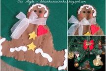 Natal - Eu que fiz! / Enfeites natalinos artesanais - delicinhasecoisinhas.blogspot.com