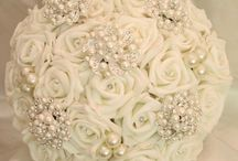 Wedding diamante bouquets