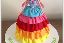 Rainbow Fairy Cake Designs / This shape cake is made by using our Dolly Varden cake tin.