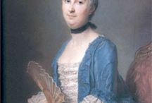 Robe à la française in blue