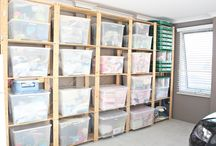 Garages / Organize and decorate your garage using these creative ideas.