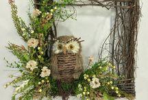 Owl wreaths