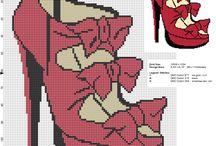 Abbigliamento e make up schemi punto croce gratis / Abbigliamento e make up schemi punto croce gratis