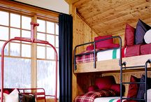 Rustic Style / Rustic decor. Buffalo check, plaid, wood, and possibly some antlers. Classy style.