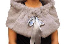bridal fur shawls