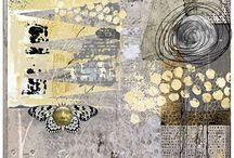 Abstract colaj art prints