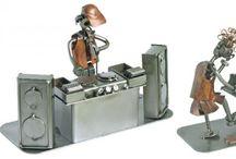 Metalowe śmieszne figurki - Metal comic figures / Metalowe figurki przedstawiające z humorem różne postacie w zabawnych sytuacjach