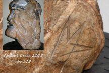 Ancient Greek 2005 -113 / sculpture  by surrealist Manuel http://www.manuelmykonos.com