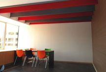 """Acoustic Baffles """"AB"""" / Room Acoustics - Acoustic Baffles: ALPHAcoustic- AB  Ceiling sound absorptive panels suspended vertically from the ceiling."""