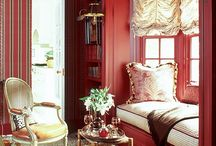 """Color Inspiration / I've been known to be a """"color junkie"""" so here are rooms I've designed or rooms I love that have amazing use of color."""