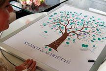 Gastenboek bruiloft / Geustbook Weddings / Great idea's for geustbooks.