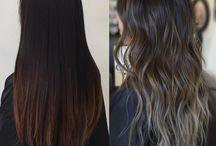 ombre hair cendrė