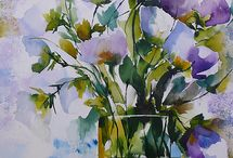 Watercolour loved / Watercolours I find inspirational
