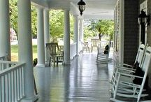 Great Spaces / Spaces that would be wonderful to spend some time. It could be a room or one of my favorites, large porches.