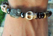 mens beaded bracelets / handmade mens gemstone bracelets