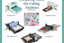 Die Cut Machines / Die cutting for paper and fabric / by Sherry Hill