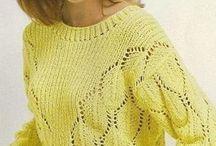 пуловеры,свитера спицами