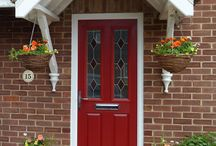 Composite Entrance Doors / Collection of external grp composite doors, front, back and cottage style.
