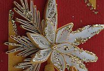 Quilling  vánoce / papírová práce
