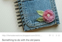 What to do with old jeans / by Kaytlin Collins