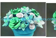 Origami Wedding Design / origami wedding decorations, origami boquets, paper flowers, paper wedding decorations,