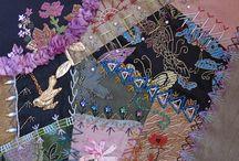 Crazy quilt samples