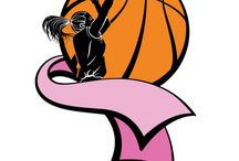 Basketball Breast Cancer Designs and Items / Designs and items with a basketball Breast Cancer Awareness theme.